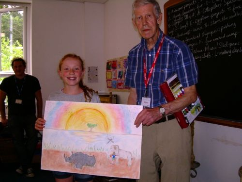 The late Lion Keith Worters with the winning Peace Poster 2018