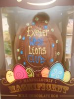 Easter egg made specially for our club to raffle and President Mike won it!