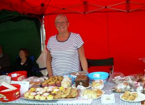 Jenny with the cake stall