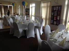 Dining room ready for aour meal